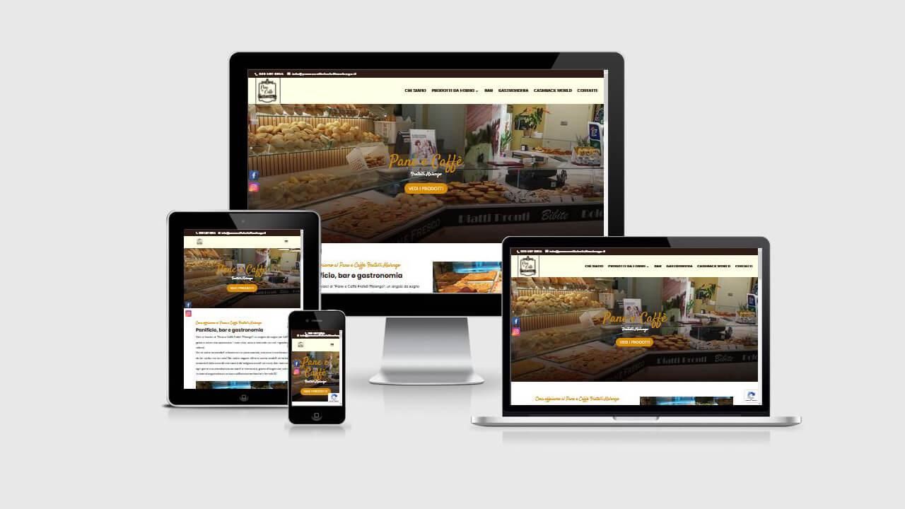 Pane e Caffè Fratelli Malengo sitoweb WordPress Divi